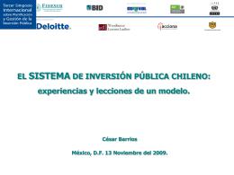 EL SISTEMA DE INVERSIÓN PÚBLICA CHILENO