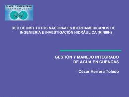 gestión y manejo integrado de agua en cuencas