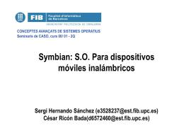 Symbian: S.O. Para dispositivos móviles inalámbricos