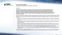 CV Julio Muñoz 01302012