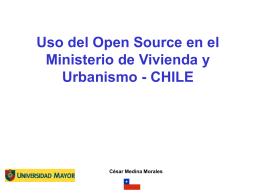 Uso del Open Source en el Ministerio de Vivienda y Urbanismo