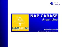 Presentación NAP Argentina