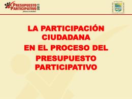 ¿Qué Fases tiene el Proceso del Presupuesto Participativo?