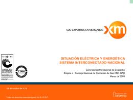 situación energética sistema interconectado nacional y - CNO-Gas