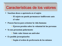 CLASE 28. VALORES FILOSOFICOS