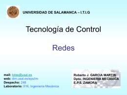 7_Redes - Web del Departamento de Ingeniería Mecánica