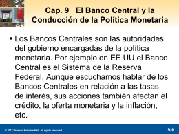 9-1 Orígenes del Sistema de la Reserva Federal