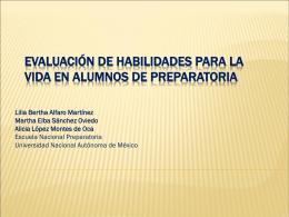 ponencia 7 evaluación de habilidades para la vida en los alumnos
