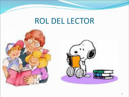 7-1 Rol del lector (1) - Analisis textual para el desarrollo de
