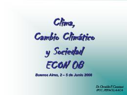 Clima, Cambio Climático y Sociedad