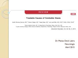Causas tratables de ataxia – 2015