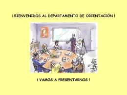¡ BIENVENIDOS AL DEPARTAMENTO DE ORIENTACIÓN !