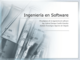 Ingeniería en Software