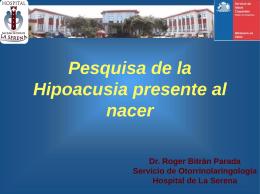 Pesquisa Hipoacusia - Servicio de Salud Coquimbo