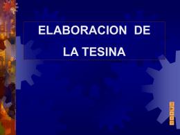 TESINA - trabajosuniversidad
