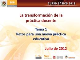 Tema 1 Los Retos para una nueva práctica educativa