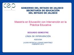 Diapositiva 1 - Meipe 2012 Línea de Intervención