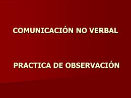 PRACTICA DE OBSERVACION COMUNICACIÓN HUMANA