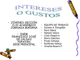 PRÁCTICA DE INTERESES