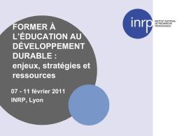 Diaporama Les débats INRP EDD
