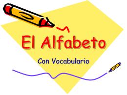 El Alfabeto - SchoolRack
