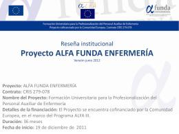 Proyecto - alfa funda enfermería