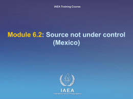 6.2 Source not under control - Mexico
