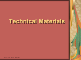 Technical materials