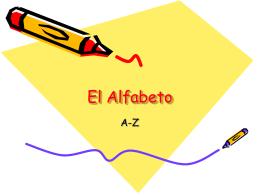 El alfabeto y sus sonidos
