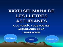 XXXIII SELMANA DE LES LLETRES ASTURIANES
