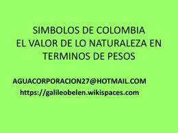 SIMBOLOS NATURALES DE COLOMBIA