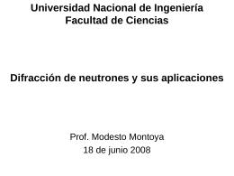 Aplicaciones de la difracción y la dispersión inelástica de neutrones