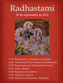 Radhastami 23 de septiembre de 2012