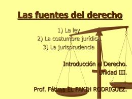 Las fuentes del derecho.