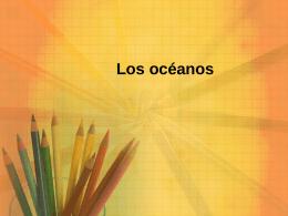 Los océanos - Colegio Santa Cecilia