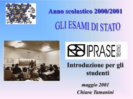 Esami di Stato 2001: Introduzione
