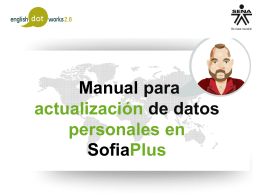 Manual actulizacion datos Sofiaplus