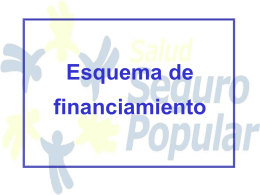 Esquemas de Financiamiento