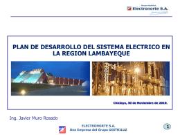 Plan de Desarrollo del Sistema Eléctrico en la Región