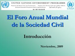 PNUMA y la Sociedad Civil - Programa de las Naciones Unidas