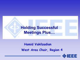 35_Holding_Successful_Meetings - CIS-IEEE