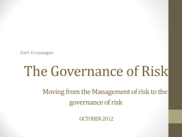 The Governance of Risk