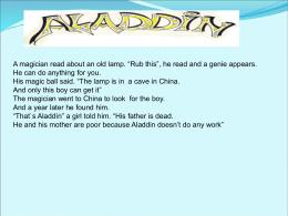 Oh! Aladdin