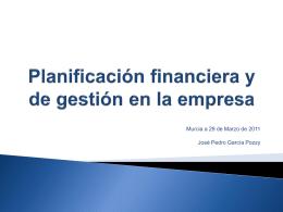 planificación financiera y de gestión