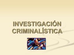 Invest criminalìstica