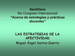 """Santillana 5to Congreso Internacional de Educación """"Acerca de"""