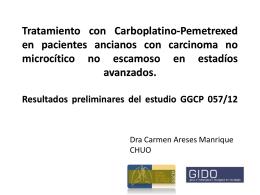 Tratamiento con Alimta-Carboplatino en pacientes ancianos con