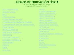 JUEGOS presentación Powerpoint