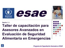 Programa de Capacitación Avanzada en ESAE Detalles