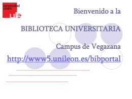 Diapositiva 1 - Biblioteca Universitaria